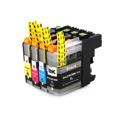 LC203 / LC205 / LC207 compatible brother printer ink cartridges with c...