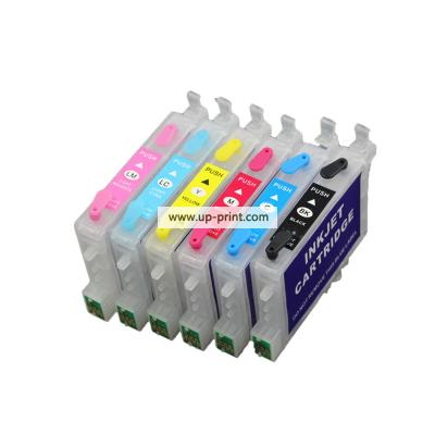 T0481 refillable ink cartridge to replace FOR Epson T0481 T0482 T0483 ...
