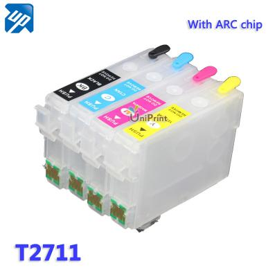 T2701 T2711 Refillable ink cartridges with ARC chip for epson WorkForc...