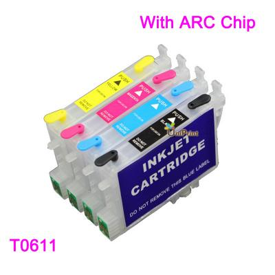 T0611-T0614 Refillable Ink Cartridge for EPSON DX3800 DX3850 DX4200 DX...
