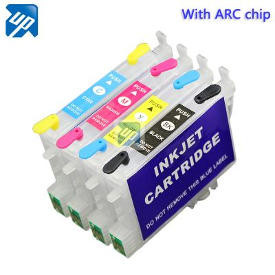 T0551-T0554 Refillable Ink Cartridges for Epson RX430 RX425 RX530 R240...