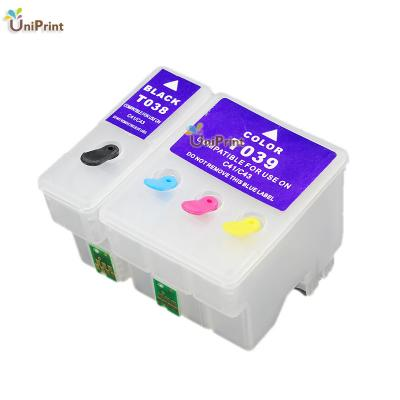 T038 T039 compatible Refillable ink cartridge for Epson C41/C43/C45/CX...