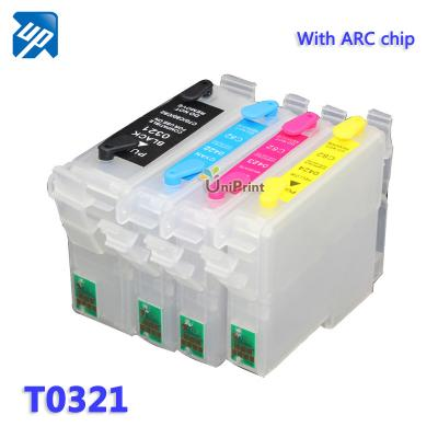 T0321 Refillable ink Cartridges for Epson Stylus C80/C80WN/C80N