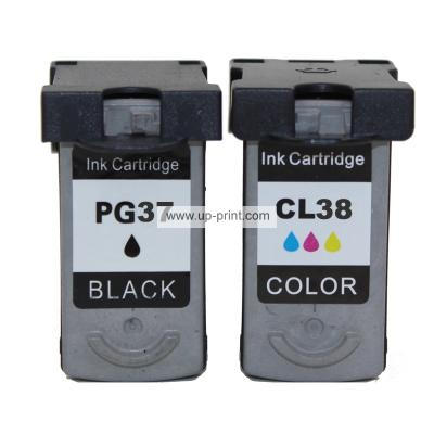 PG 37 38 Remanufactured Ink Cartridges for Canon Pixma MP140 Pixma MP2...